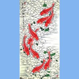 中国工艺美术学会会员,山东美协会员,中日书画交流学会会员胡记领(年年有余)12