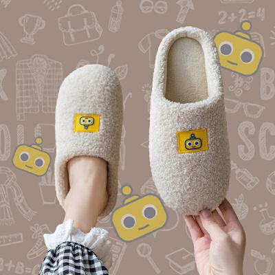 棉拖鞋女冬季家用秋冬毛毛情侣一对家居室内厚底可爱绒保暖鞋男士