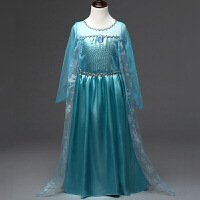 冰雪奇缘公主裙爱莎艾莎裙子长裙爱沙女王衣服儿童女童连衣裙