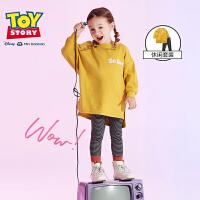 迷你巴拉巴拉女童两件套装2019秋新品宝宝长款卫衣打底裤儿童套装