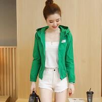 短外套女2018春夏新款时尚韩版修身薄款衣学生棒球服上衣 绿色 S