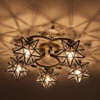 过道灯走廊灯玄关灯简约现代 美式五角星走廊过道灯北欧星星灯玄关灯现代卧室阳台创意吸顶灯具
