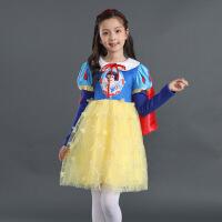 白雪公主裙迪士尼儿童服装2019夏装女童纯棉连衣裙冰雪奇缘衣服