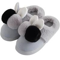 儿童棉鞋冬季男女宝宝毛毛软底fang滑家居棉拖鞋可爱小公主