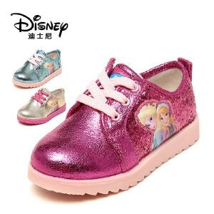鞋柜/迪士尼侧拉链休闲女童单鞋女童运动鞋