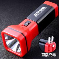 电筒小便携雅阁led充电手电筒家用直充强光普通耐用式