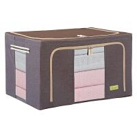 收纳箱衣服儿童玩具整理储物盒有盖特大号布艺箱子批发牛津布透明