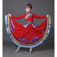 新款儿童演出服蒙古舞蹈裙幼儿园少数民族蒙古族表演服装女童天边