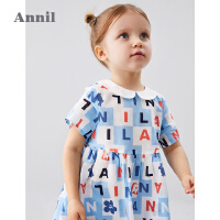 【3件3折预估到手价:52.8】安奈儿童装女童连衣裙纯棉2020夏季新款小童清新活泼短袖裙娃娃领