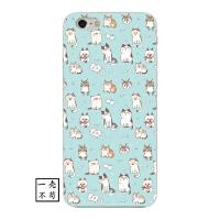 卡通猫狗iPhone6s苹果X手机壳超萌可爱清新7/8plus保护套创意软壳