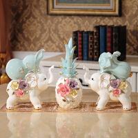 小摆件装饰品卧室 陶瓷兔子家居摆件卧室创意可爱小饰品客厅房间电视柜酒柜装饰摆设