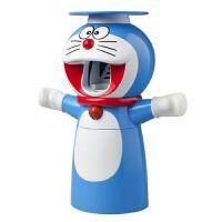 抖音牙刷架 全自动挤牙膏器多啦a梦儿童可爱卡通神器创意懒人牙刷架