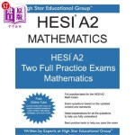 【中商海外直订】HESI A2 Mathematics: HESI A2 Math Exam - Health Edu