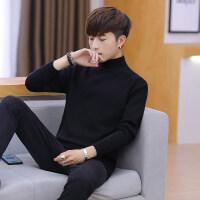 冬季男士毛衣韩版宽松半高领针织衫潮流加厚个性帅气毛线衣服外套