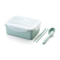 小麦秸秆饭盒微波炉便当盒套装冰箱水果保鲜盒长方形收纳盒