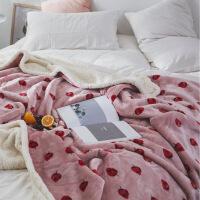 法兰绒珊瑚绒毯子毛毯被子加厚单人冬季保暖午睡毯
