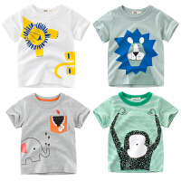 男童女童短袖T恤儿童半袖动物可爱卡通 夏季童装
