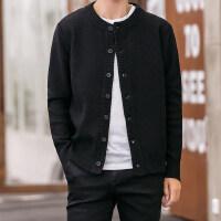 2018男生新款菠萝纹开衫毛衣男韩版潮流线衣针织衫修身帅气薄外套