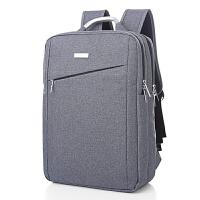 商务背包双肩包男士旅行电脑双肩包15.6寸14寸韩版书包潮 灰色 斜款