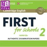 【中商原版】剑桥FCE考试校园版2 真题集:CD音频 英文原版 Cambridge English First for