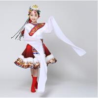 新款儿童藏族舞蹈演出服装少儿蒙古表演服水袖服装女童表演服舞台