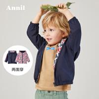 【活动价:169.5】两面穿安奈儿童装男小童短款外套春夏3薄款2020新款宝宝时尚外套