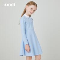 【活动价:139】安奈儿童装女童连衣裙长袖学院风2020春季新款韩版洋气学生裙子