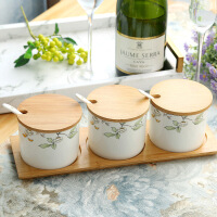 骨瓷餐具套装厨房用具陶瓷调味罐调料缸调味缸调料罐调料盒调味盒 图片色