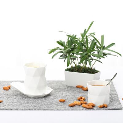 棱角骨瓷咖啡杯套装35/礼盒装咖啡杯个性简约欧式创意 礼盒装