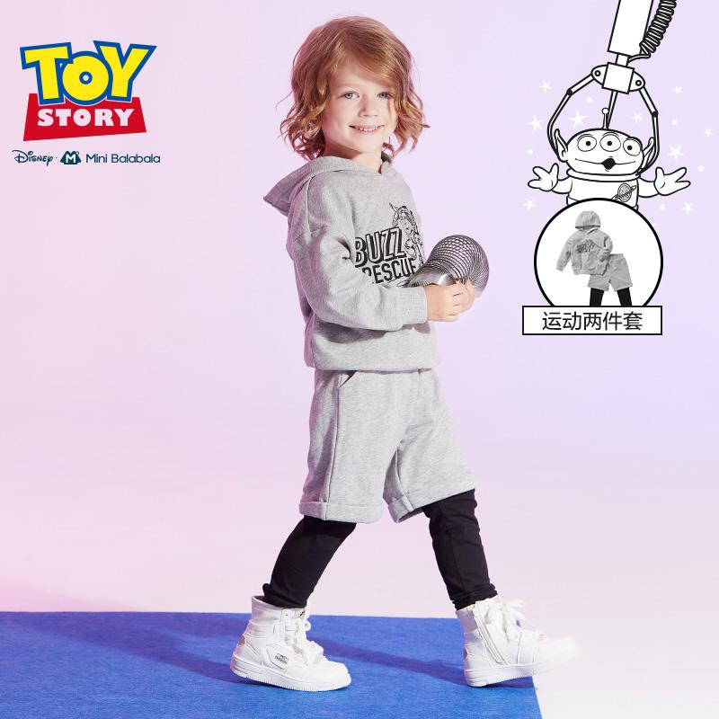 【满200减130】迷你巴拉巴拉儿童套装男童玩具总动员2019年秋新品宝宝长袖两件套