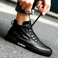 秋冬季棉鞋高帮板鞋男韩版休闲运动鞋小白鞋男皮鞋学生潮流男鞋子