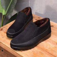 老头棉鞋男冬季保暖加绒老人鞋防滑老年健步鞋老北京布鞋男爸爸鞋