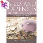 【中商海外直订】Bills and Expenses Simplified Checklist: The Simple