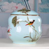 景德镇手工绘制陶瓷茶叶罐大号普洱七饼罐茶缸茶盒茶叶桶储茶罐