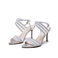 D:Fuse/迪芙斯新商场同款闪光布网布性感凉鞋DF72115314