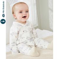 【1件6折】迷你巴拉巴拉婴儿衣服男女宝宝连身衣连体衣服2019秋新款哈衣爬服