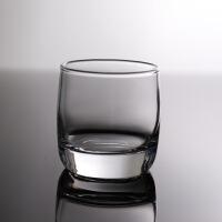 创意简约圆形玻璃水杯酒店餐厅茶杯酒杯水杯漱口杯洋酒杯威士忌杯