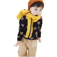 宝宝围巾韩版婴儿秋冬男童女童仿羊绒保暖围脖儿童针织格子脖套潮