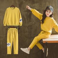 女童春秋装2018新款潮套装洋气韩版童装时髦运动服儿童卫衣两件套