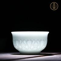 功夫茶杯景德镇陶瓷单杯个人杯茶盏单杯透光品茗杯主人杯