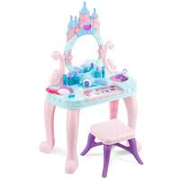 儿童玩具女孩过家家梳妆台化妆台品公主彩妆盒套装女童玩具3-6岁 【公主】多功能钢琴城堡化妆台