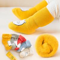 婴儿袜子女0春秋冬季棉款3-6长筒男童宝宝1岁加厚款12个月