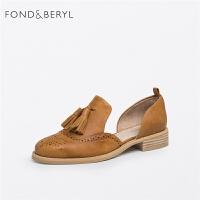 Fondberyl/菲伯丽尔春季商场同款牛皮流苏单鞋女鞋FB71114050
