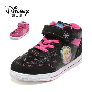 【达芙妮集团】迪士尼 5冬女童低筒靴圆头公主鞋