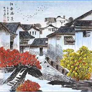 中国美协会员,中国书协会员,龙云书画院院长候桂峰(南方民居)5