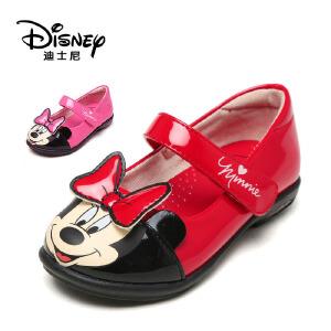 鞋柜/迪士尼儿童皮鞋女公主鞋春秋米妮单鞋