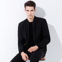 1件3折到手价:158】时尚黑色迷彩夹克男潮流外套棒球领休闲jacket