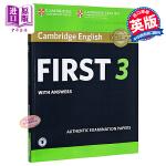 【中商原版】剑桥FCE考试3 真题集:学生书(含答案和音频)英文原版 Cambridge English First