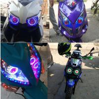灯改装配件超亮摩托车led灯战速灯电动车内置天使恶魔眼12v