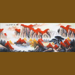 1.8米《鸿运当头》高忠明 中国书画院研究员 一级美术师R3879